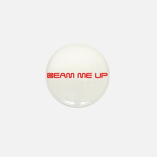beam-me-up-saved-red Mini Button