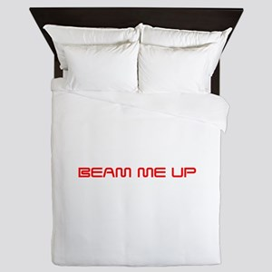 beam-me-up-saved-red Queen Duvet