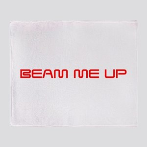 beam-me-up-saved-red Throw Blanket