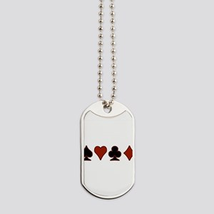 card-suits-v Dog Tags