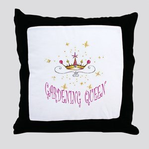 GARDENING QUEEN Throw Pillow
