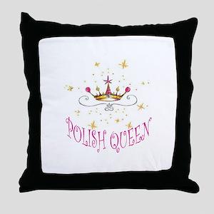 POLISH QUEEN Throw Pillow