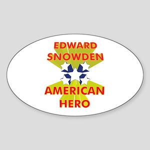 EDWARD SNOWDEN AMERICAN HERO Sticker