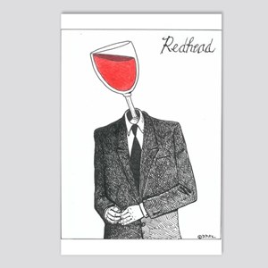 RedHeadRed Postcards (Package of 8)