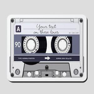 Customizable Cassette Tape - Grey Mousepad