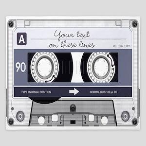 Customizable Cassette Tape - Grey King Duvet