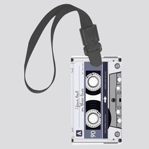 Customizable Cassette Tape - Gre Large Luggage Tag