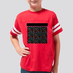 Rainbow Polka Dots Youth Football Shirt