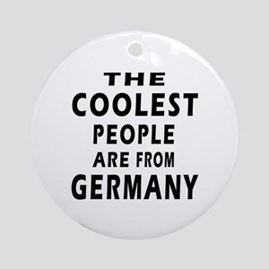 The Coolest Germany Designs Ornament (Round)