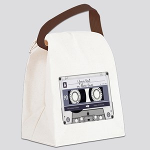 Customizable Cassette Tape - Grey Canvas Lunch Bag