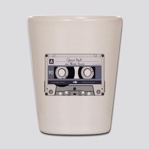 Customizable Cassette Tape - Grey Shot Glass