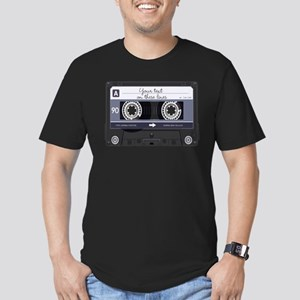 Customizable Cassette Men's Fitted T-Shirt (dark)