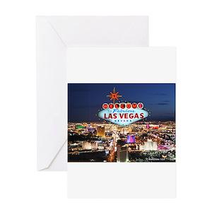 Vegas greeting cards cafepress m4hsunfo