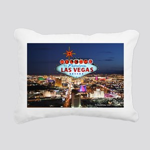 Las Vegas Rectangular Canvas Pillow