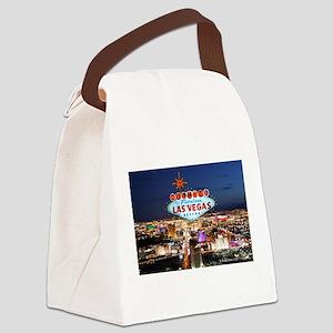 Las Vegas Canvas Lunch Bag