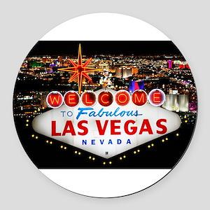 Las Vegas Round Car Magnet