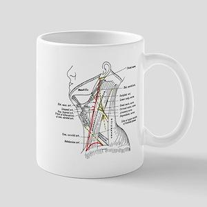 Neck Diagram 11 oz Ceramic Mug