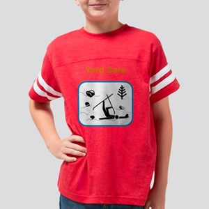 ys10x10_ShirtBL Youth Football Shirt