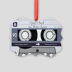 Customizable Cassette Tape - Grey Picture Ornament