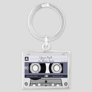 Customizable Cassette Tape - Gr Landscape Keychain