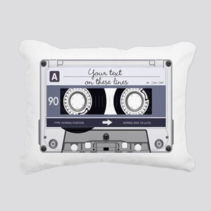 Customizable Cassette Ta Rectangular Canvas Pillow