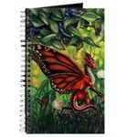 """""""Fairy Dragon"""" Red Fairy Dragon Journal Notebook"""