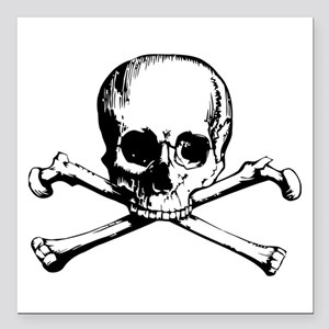 "Crossbones Square Car Magnet 3"" x 3"""