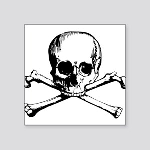 "Crossbones Square Sticker 3"" x 3"""