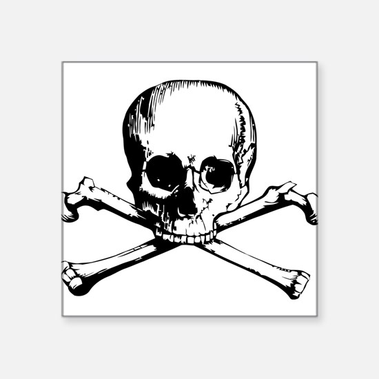 "Crossbones.png Square Sticker 3"" x 3"""