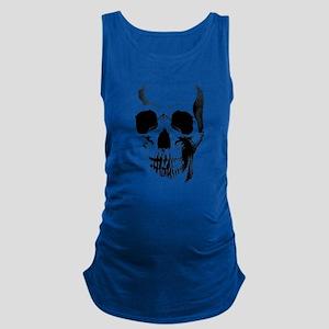 skull-face_bl Maternity Tank Top