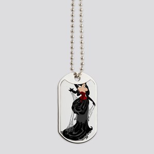 bl_black-widow-fairy Dog Tags