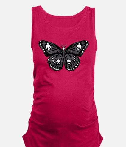 butterfly-skull.png Maternity Tank Top