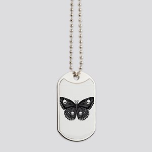 butterfly-skull Dog Tags