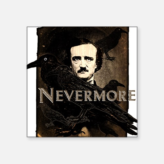 "nevermore.png Square Sticker 3"" x 3"""