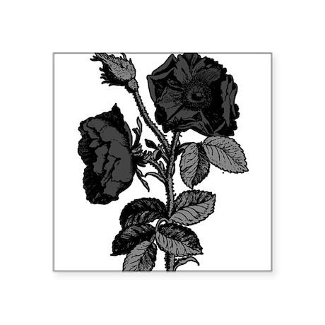 "antique-rose_goth.png Square Sticker 3"" x 3"""