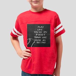 In first baseball motivationa Youth Football Shirt