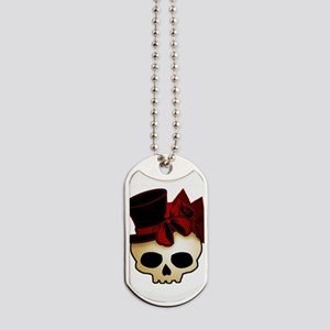 skull-hat-red_shaded Dog Tags