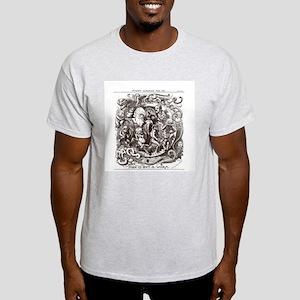 Charles Darwin Cartoon Ash Grey T-Shirt