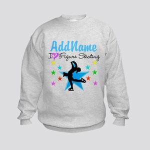 LOVE FIGURE SKATING Kids Sweatshirt