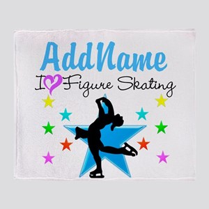 LOVE FIGURE SKATING Throw Blanket