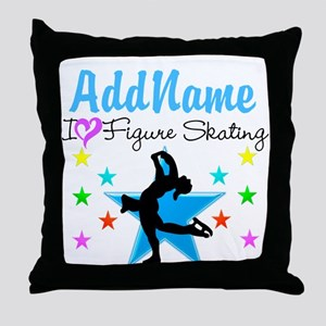 LOVE FIGURE SKATING Throw Pillow