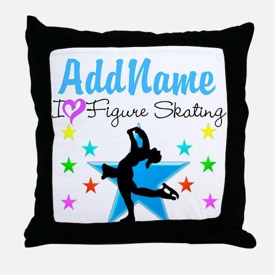 LOVE FIGURE SKATING Throw Pillow