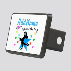 LOVE FIGURE SKATING Rectangular Hitch Cover