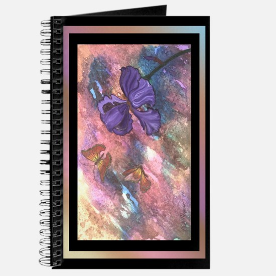 Pastel Monarchs Black Trim - 5x8 Journal