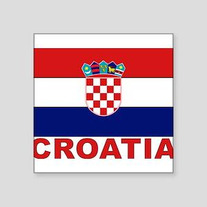 "croatia_b Square Sticker 3"" x 3"""