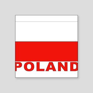 "poland_b Square Sticker 3"" x 3"""
