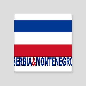 "serbia-and-montenegro_b Square Sticker 3"" x 3"""