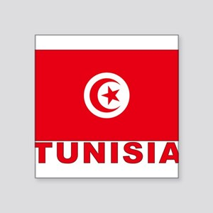 """tunisia_b Square Sticker 3"""" x 3"""""""