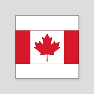 "canadian-flag.png Square Sticker 3"" x 3"""