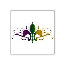 fleur-de-lis-swirls_color Square Sticker 3